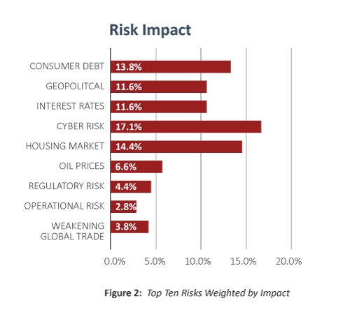 Top risks by impact in 2017