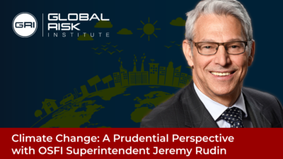Climate Change event banner with Jeremy Rudin